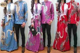Baju Couple Muslim Songket Batik Mx05 Butik Destira Jogja