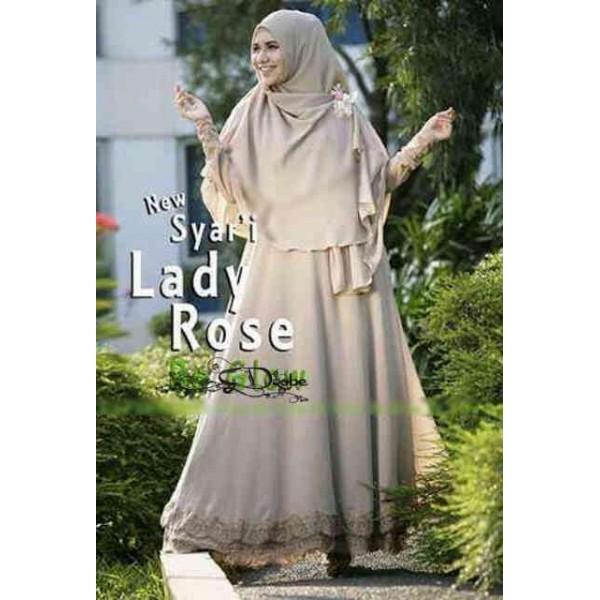 Syari Lady Rose Coklat Gamis Syari Anggun Dan Elegan Butik