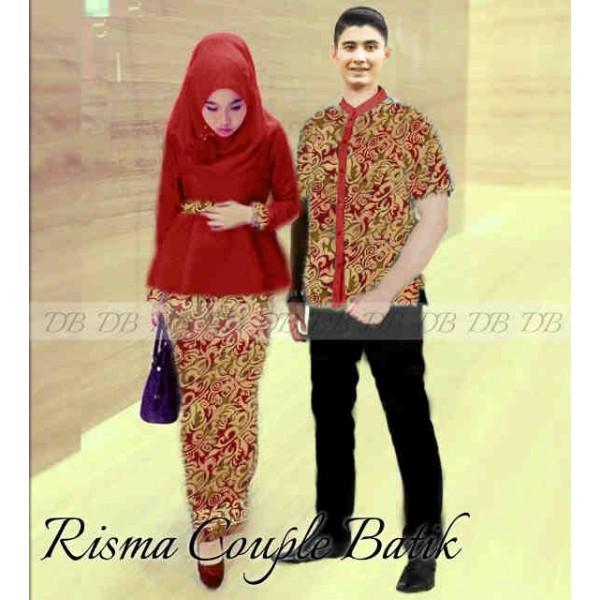 Batik Keris Warna Merah: Couple Kebaya Risma Batik, Baju Sarimbit Murah Dan Modis