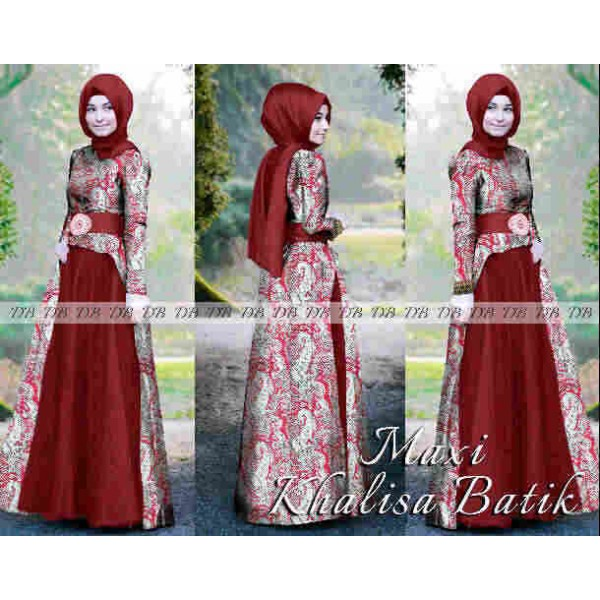 Maxi Khalisa Batik Baju Pesta Murah Model Terbaru