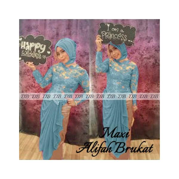 Maxi-ALifah-Brukat-biru