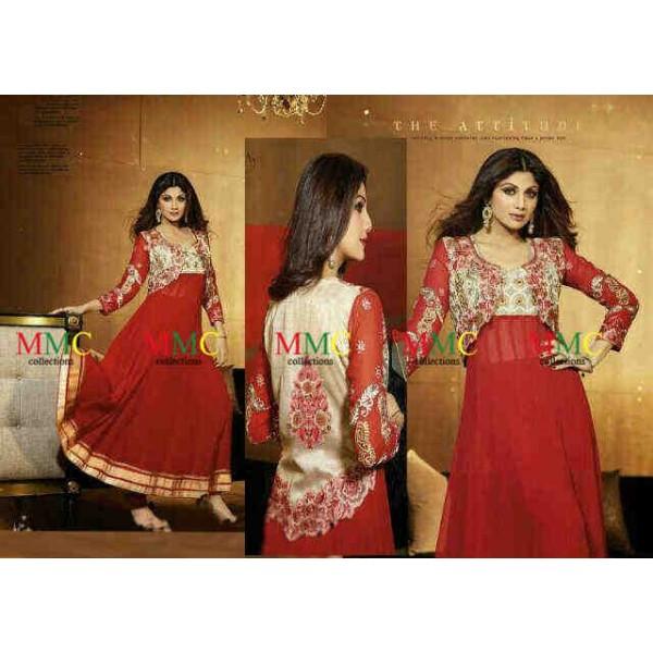 Gamis-India-Shilpa-Merah