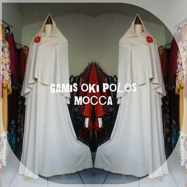 Gamis Oki Polos Mocca Produsen Baju Muslim Murah Butik