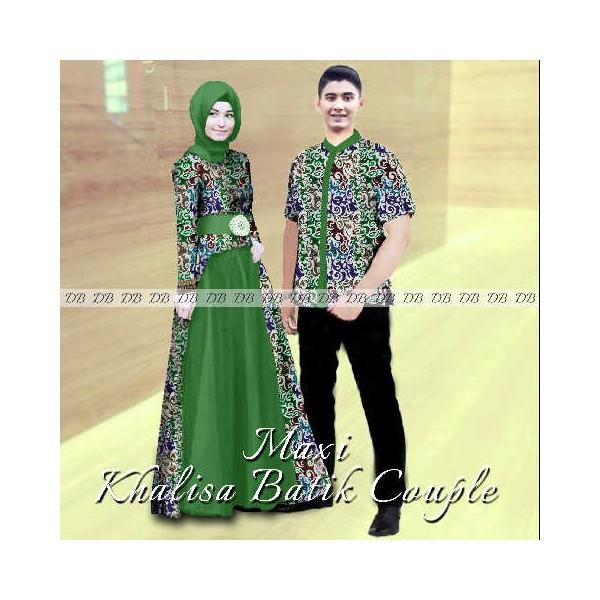 Maxi Khalisa Batik Couple Gamis Sarimbit Modern 2015 Butik