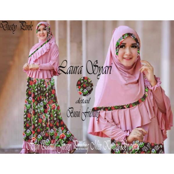 laura-syari-dusty-pink-jersey-printing-bergo-xl-busui