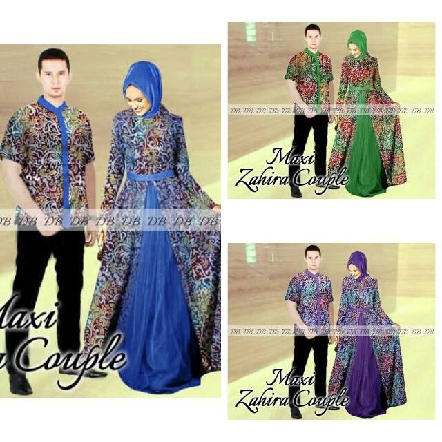 Couple Maxi Zahirah Model Sarimbit Batik Modern Butik Destira Jogja
