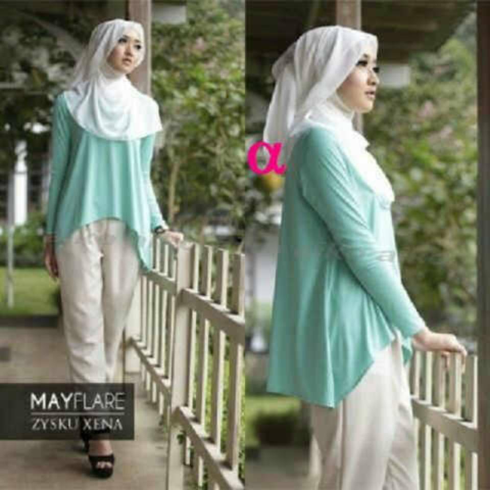 Stelan annisa HARGA NORMAL @130 SALE JADI @100RB, blouse spandek korea+celana kaos spandek+pashmina spandek fit L