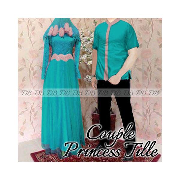 Couple Princes Tile Toska Baju Sarimbit Muslim Cocok Buat Pesta