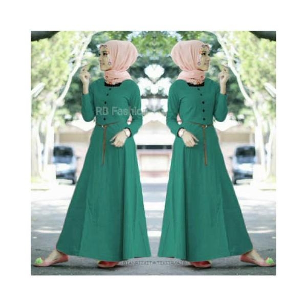 Aisyah Maxi Dress Katun Rayon Butik Destira Jogja