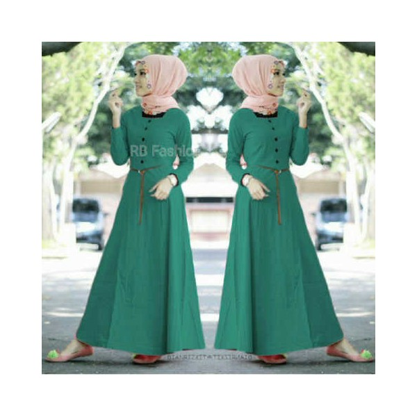 aisyah-dress-katun-rayon-tosca