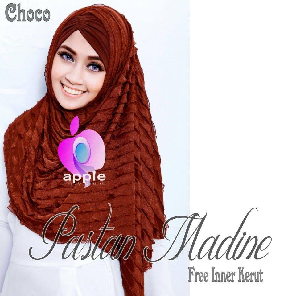 Pastan-Madine-ORIGINAL-Apple-Hijab-coklat