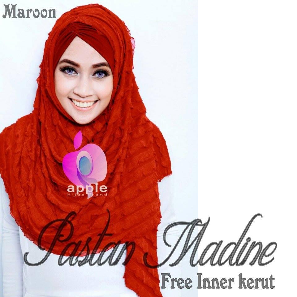 Pastan-Madine-ORIGINAL-Apple-Hijab-maroon