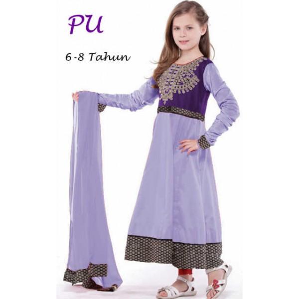 gamis-india-anak-lily-biru