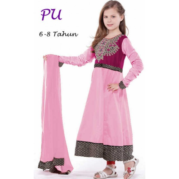 gamis-india-anak-lily-pink