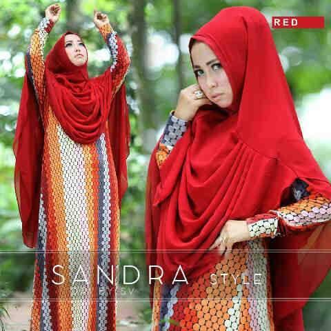Sandra-syari-merah