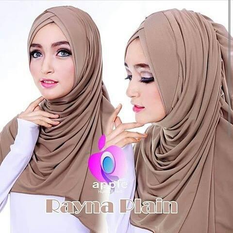Jilbab-Instan-Rayna-Plain-Coklat