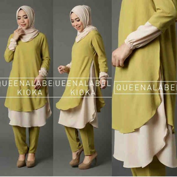 kioka joger blouse green