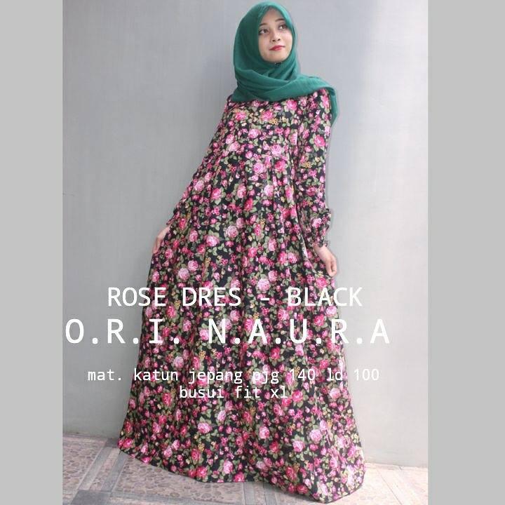 Rose-Dress-Black