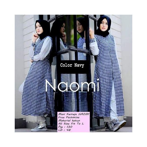 Maxi-Kemeja-Naomi-Navy