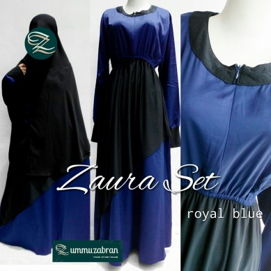 zaura-set-royal-blue-lengkap