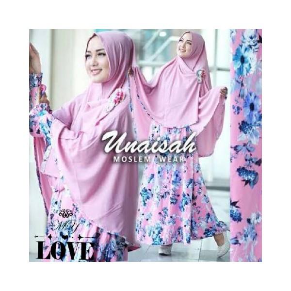 Unaisah-Syari-Pink-Gamis-Jersey-Bunga