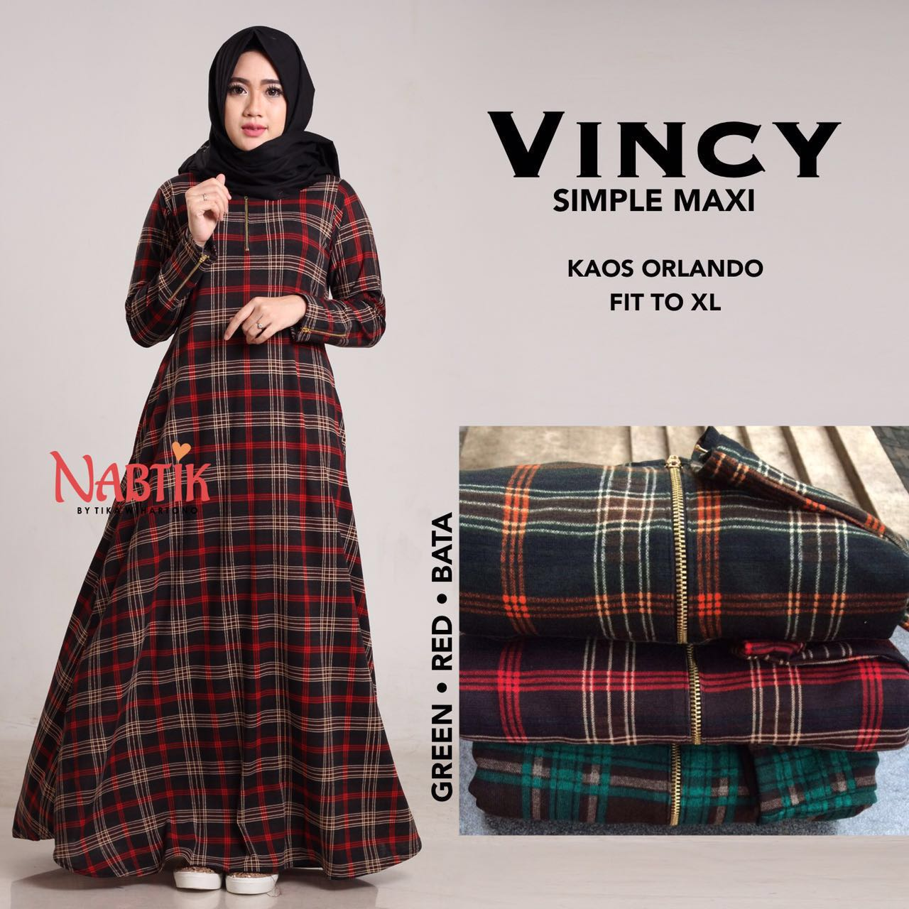 Vincy Simple Maxi By Nabtik Butik Destira Jogja