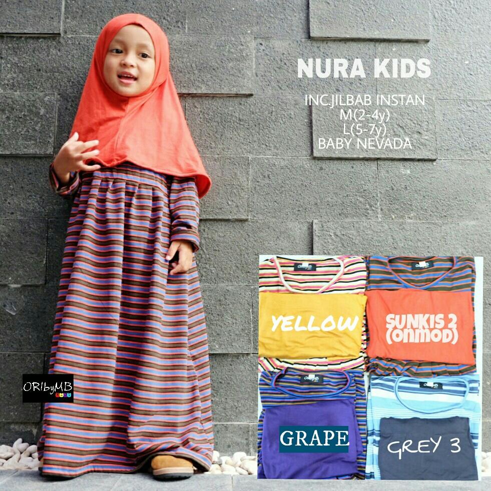 Nura Kids Gamis Kaos Anak Salur Butik Destira Jogja