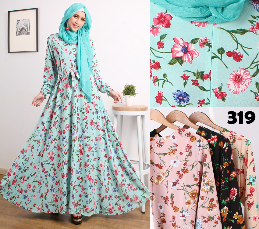 gamis-buble-pop-bunga