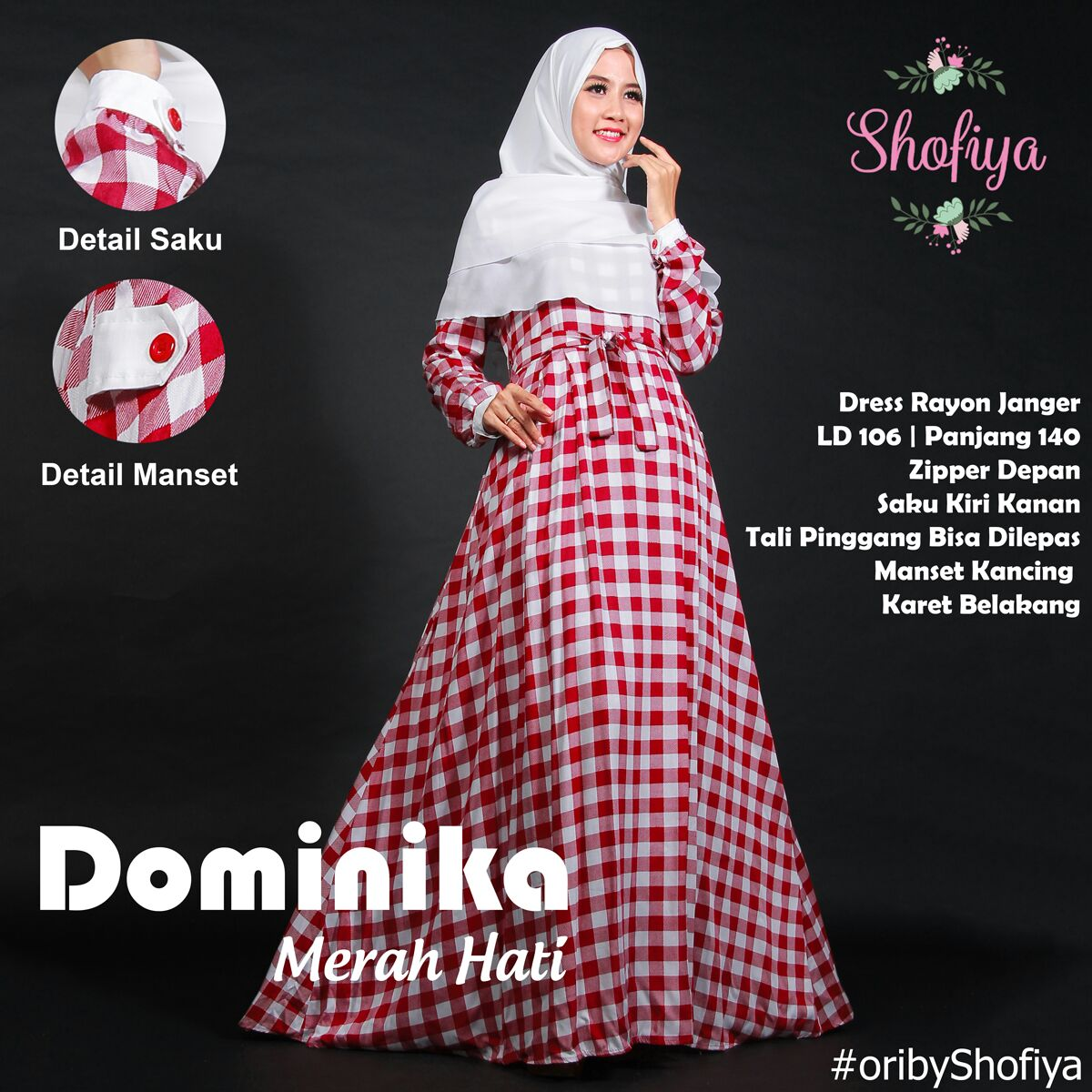 Dominika Dress Ori By Shofiya Butik Destira Jogja