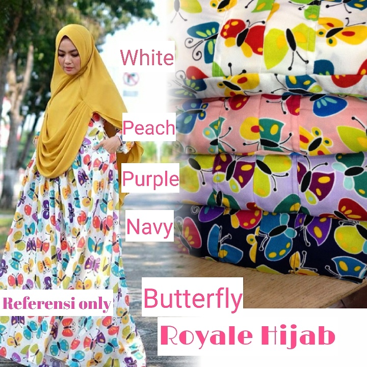 Butterfly dress ori royale hijab