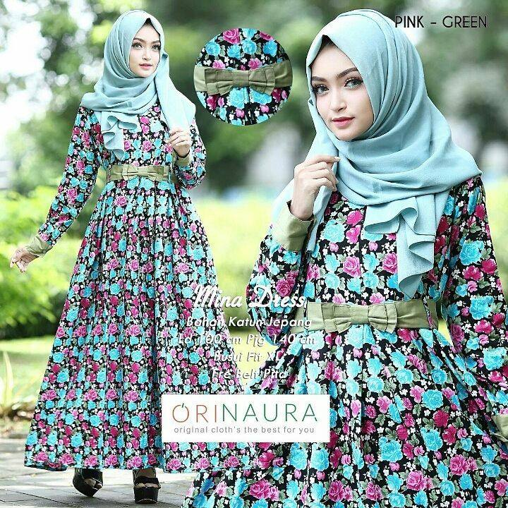 mina-dress-ori-naura-pink-green