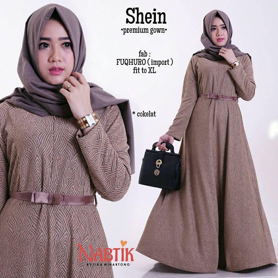 shein-premium-gown-coklat