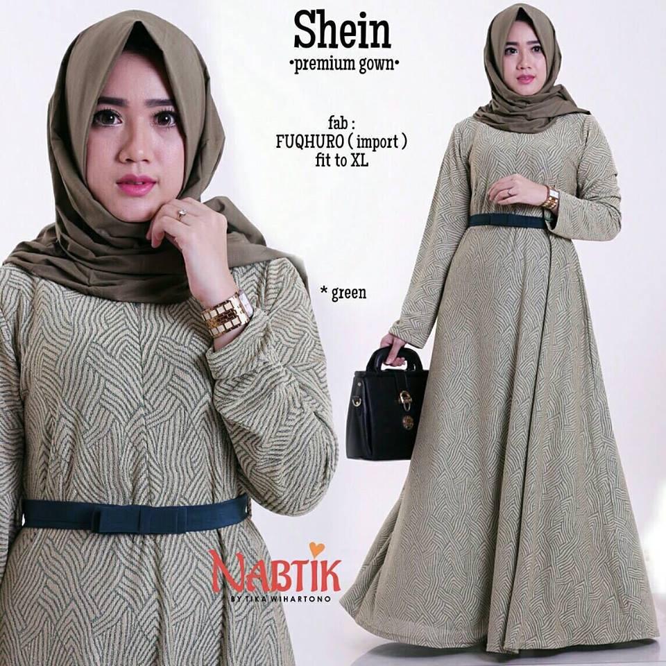 shein-premium-gown-green