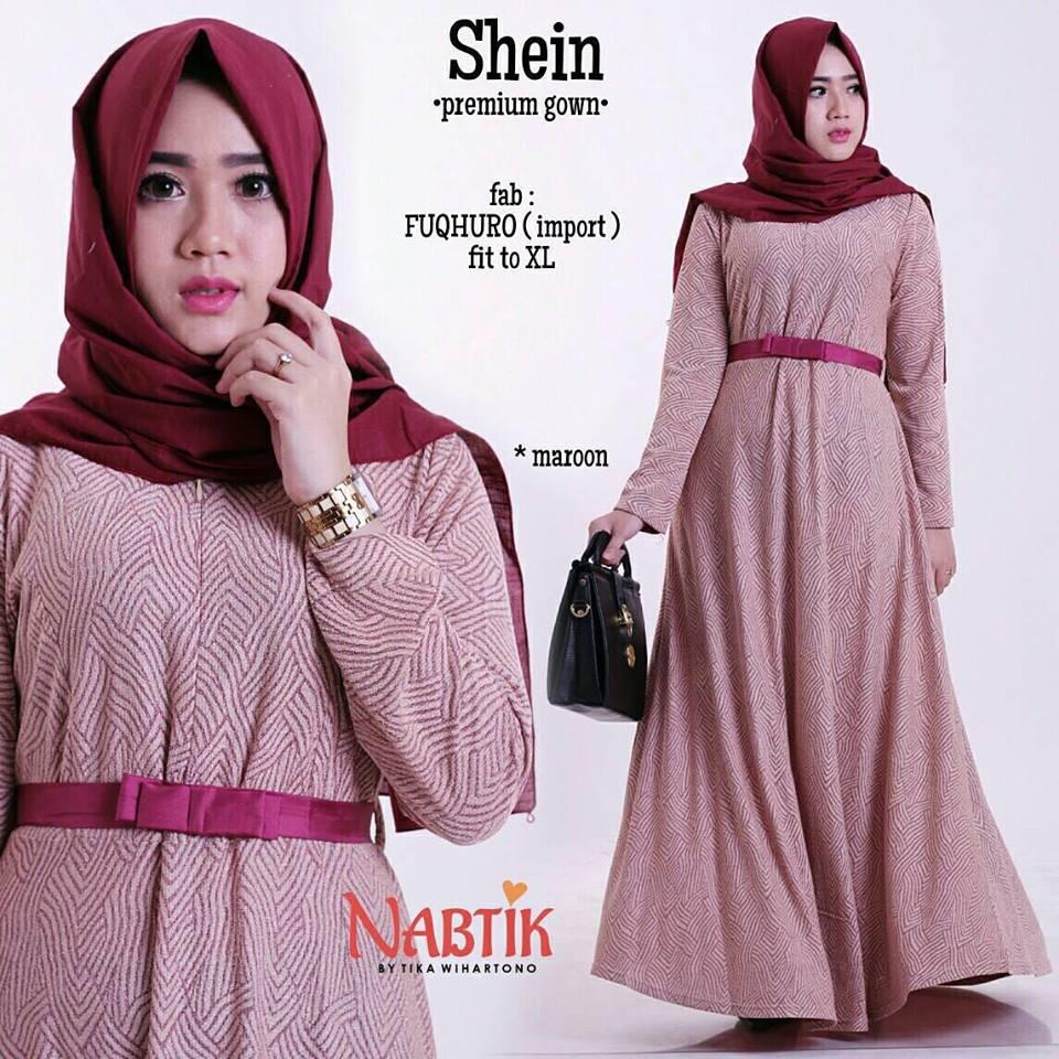shein-premium-gown-maroon