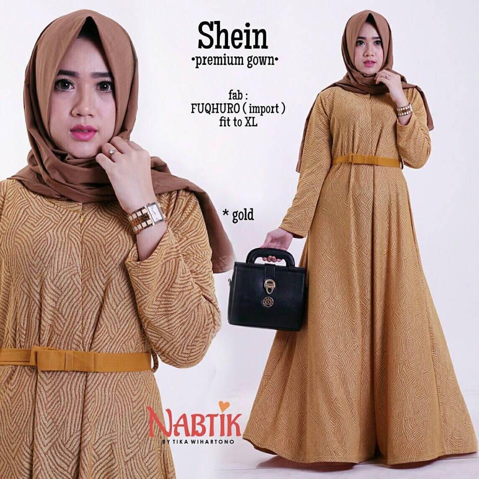 shein-premium-gown-mustard