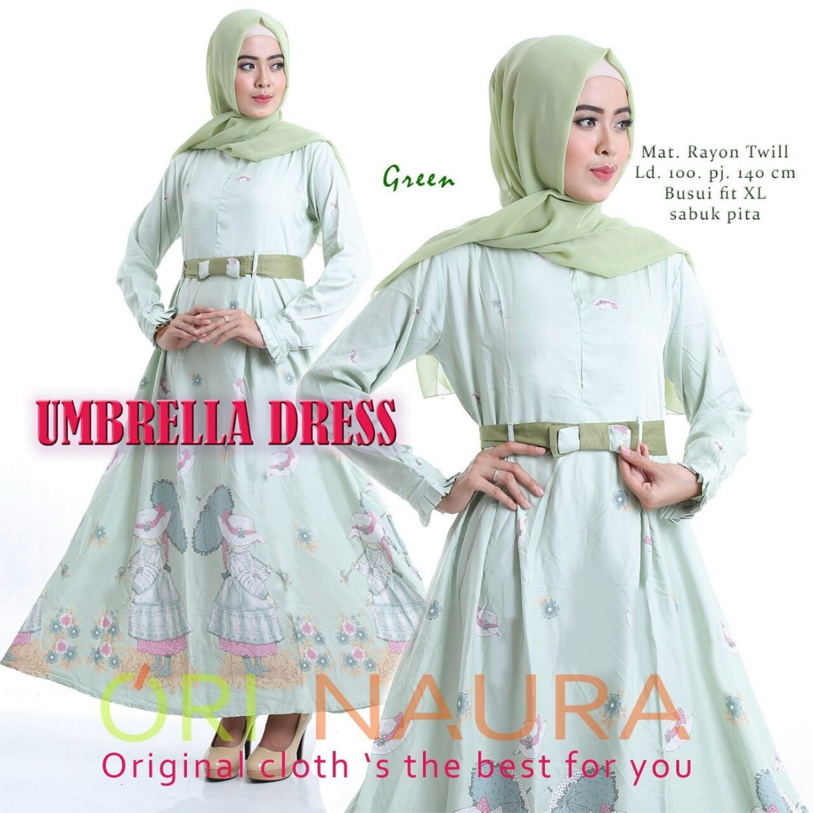 umbrella-dress-green