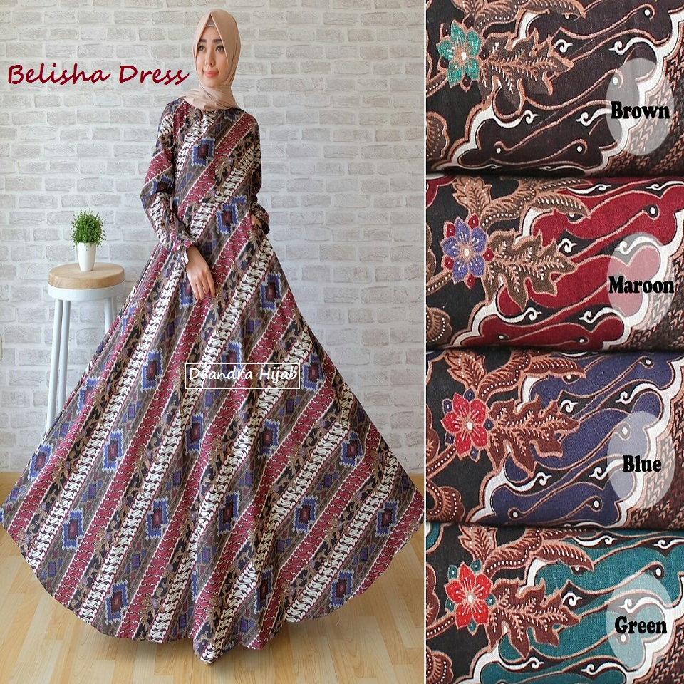 Belisha Dress Gamis Batik By Deandra Hijab Butik Destira Jogja