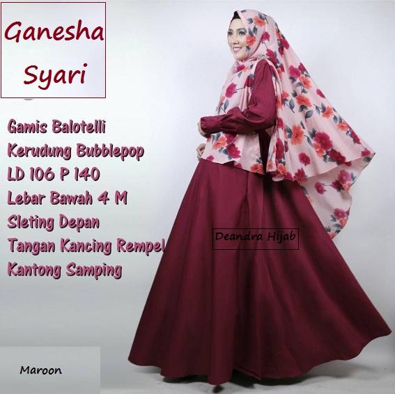 ganesha-syari-maroon