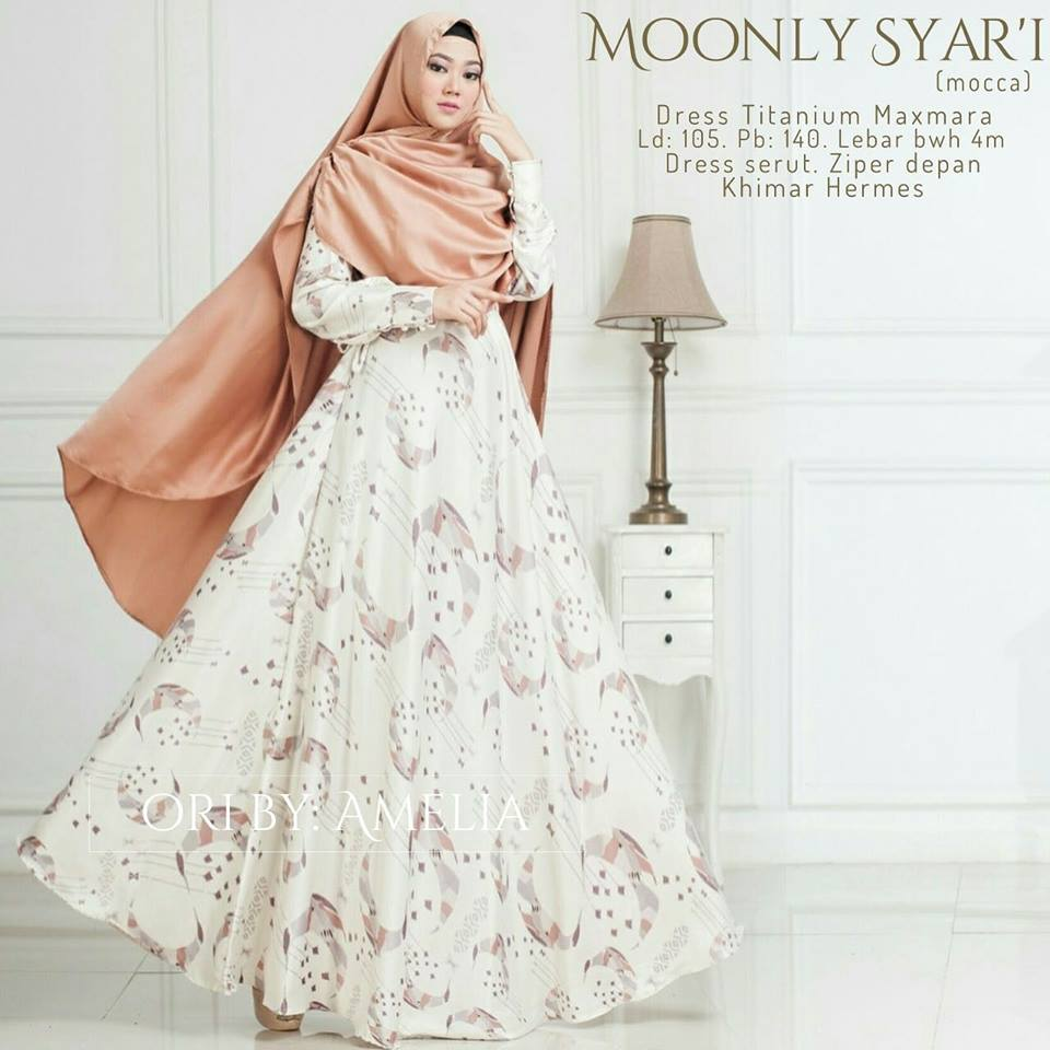 Moonly Syari  Dress Titanium Maxmara Ori by Amelia