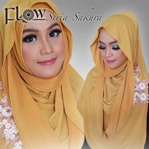 Siria Sakura Jilbab tanpa lilitan langsung Slup by Flow Idea