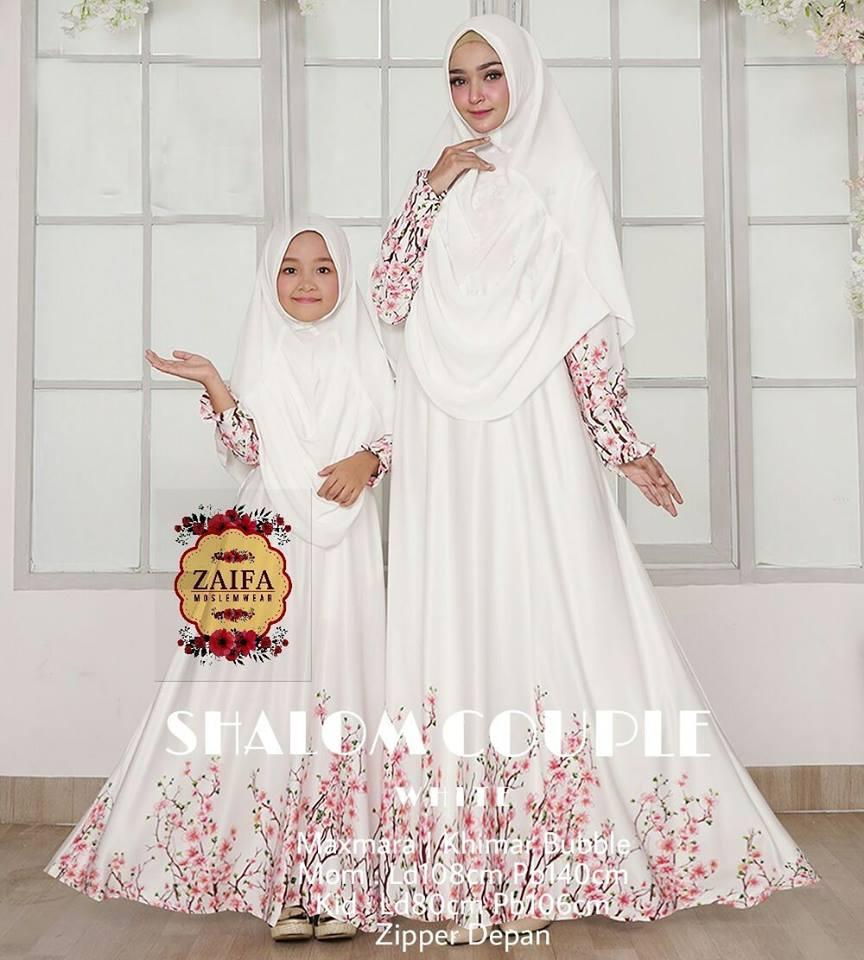 Shalom Couple  Dress Maxmara  Khimar Buble by Zaifa Moslemwear