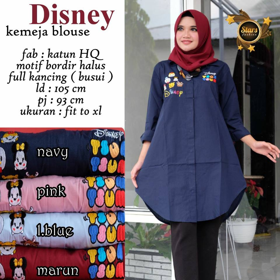Flowery Frendy Disney Kemeja Blouse by Stars Fashion