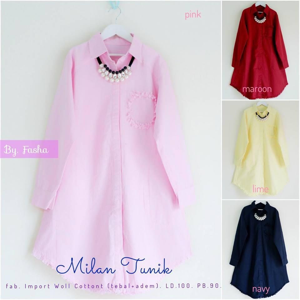 Milea Tunik Nova Tunik Milan Tunik by Fasha Hijab