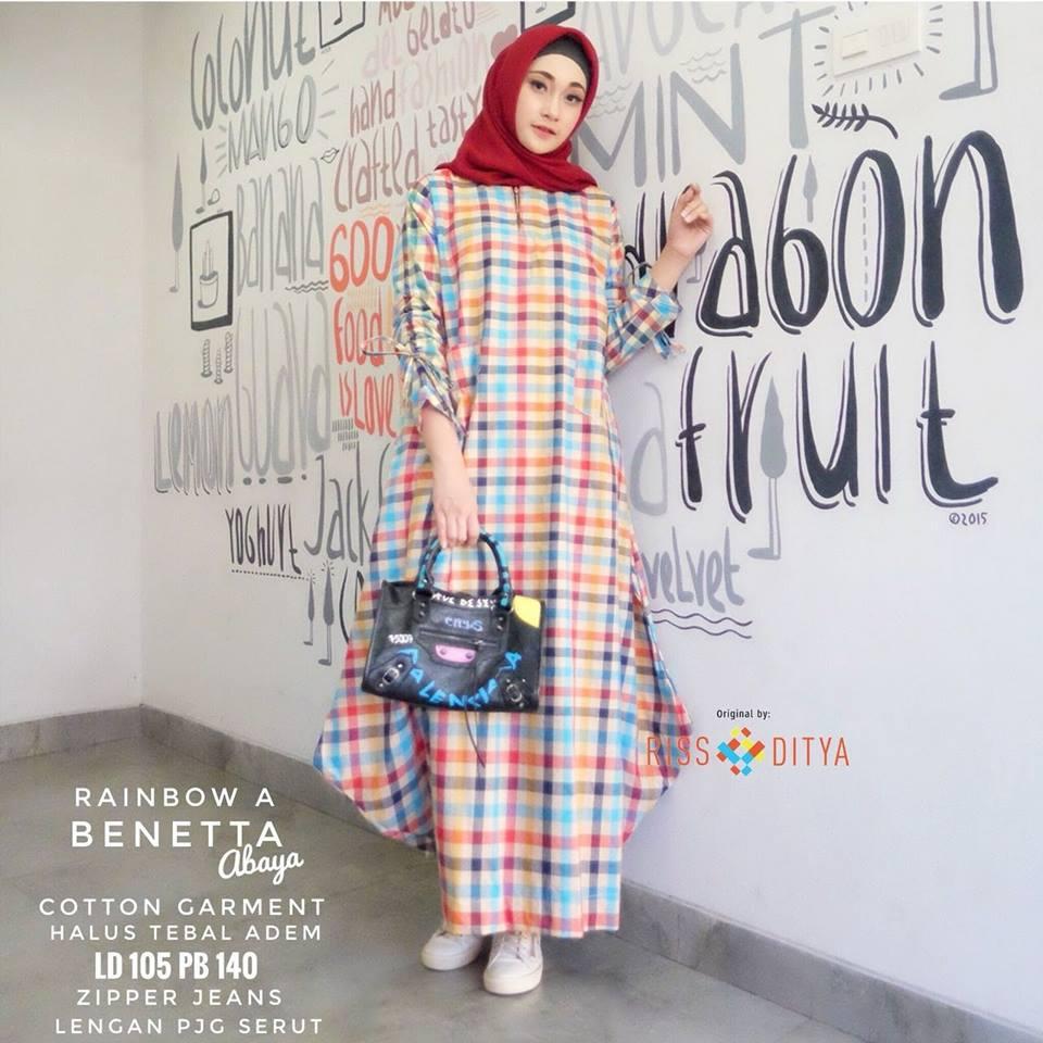 Benetta Abaya Katun Garment by RISS DITYA