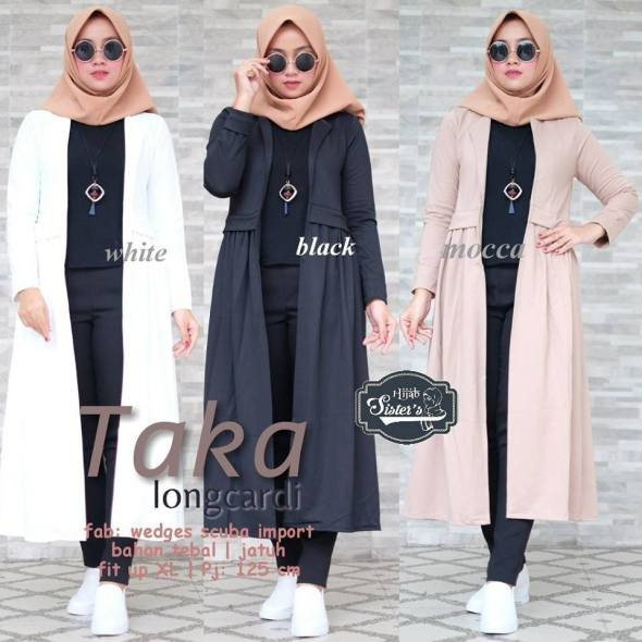 Taka Longcardi Polo Hanan Parka by Hijab Sisiter's