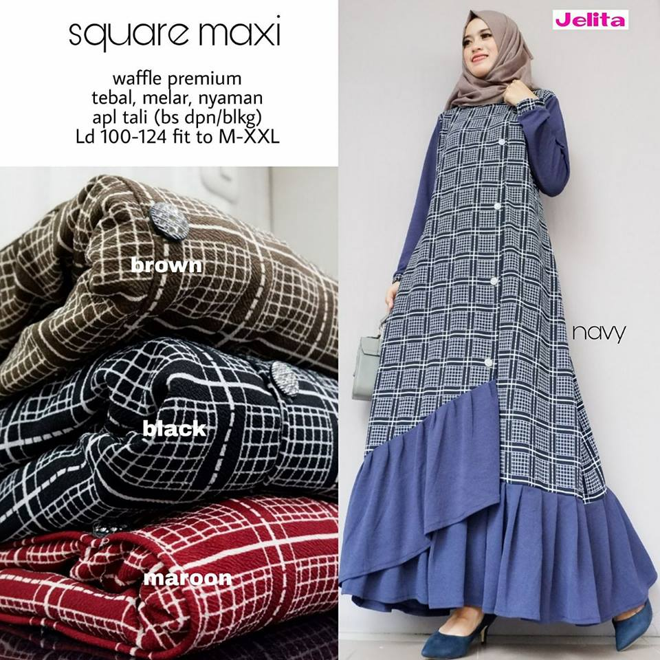 Delta Maxy Mermaid dress#6 Square Maxi Jeany Maxy by Jelita