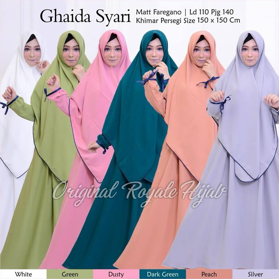 Zahida Ghaida Naraya Azzahra Hawa Habibah Hijab Syar'i by Original Royale Hijab