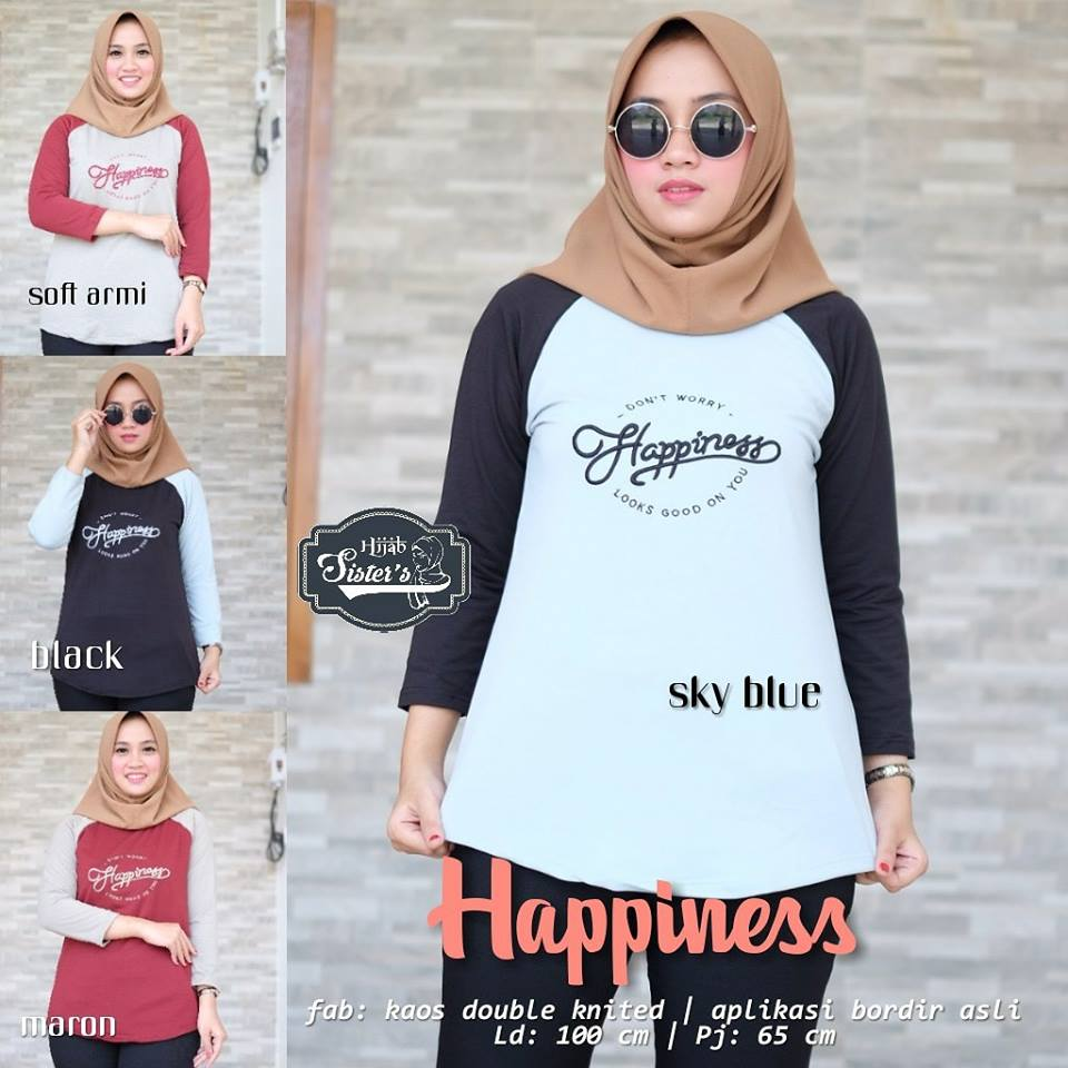 Smilling Oakland Happiness 32 Atasan by Hijab Sister's